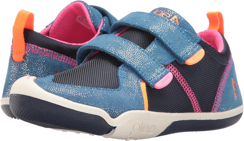 plae Girls' TY Sneaker, Navy/Pink, 9.5