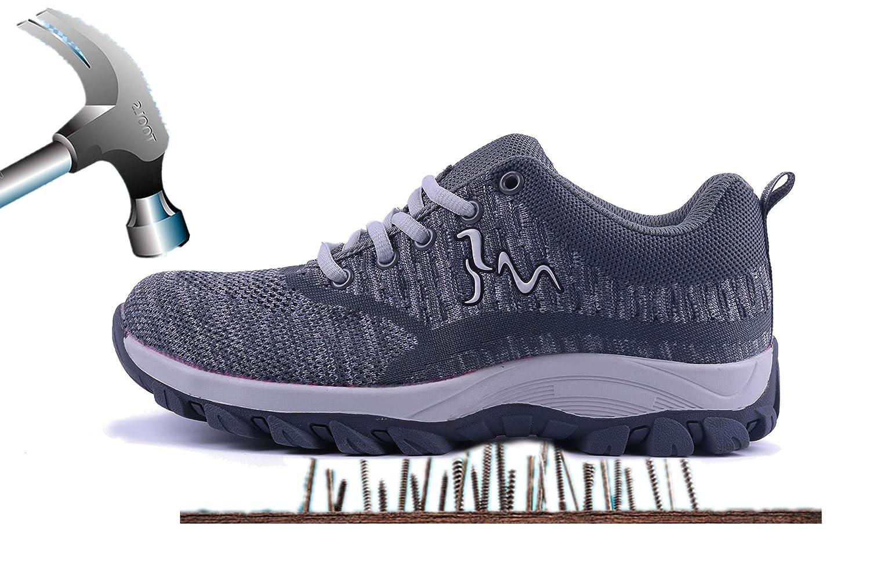Aizeroth-UK Chaussure de piqûres Sécurité Bottes Respirant Industrie S3 Chaussure de Travail Embout de Protection en Acier Semelle de Protection Anti-Collision Prévention des piqûres Bottes Baskets Chantiers et Industrie Gris cd57f56 - automatisms.space