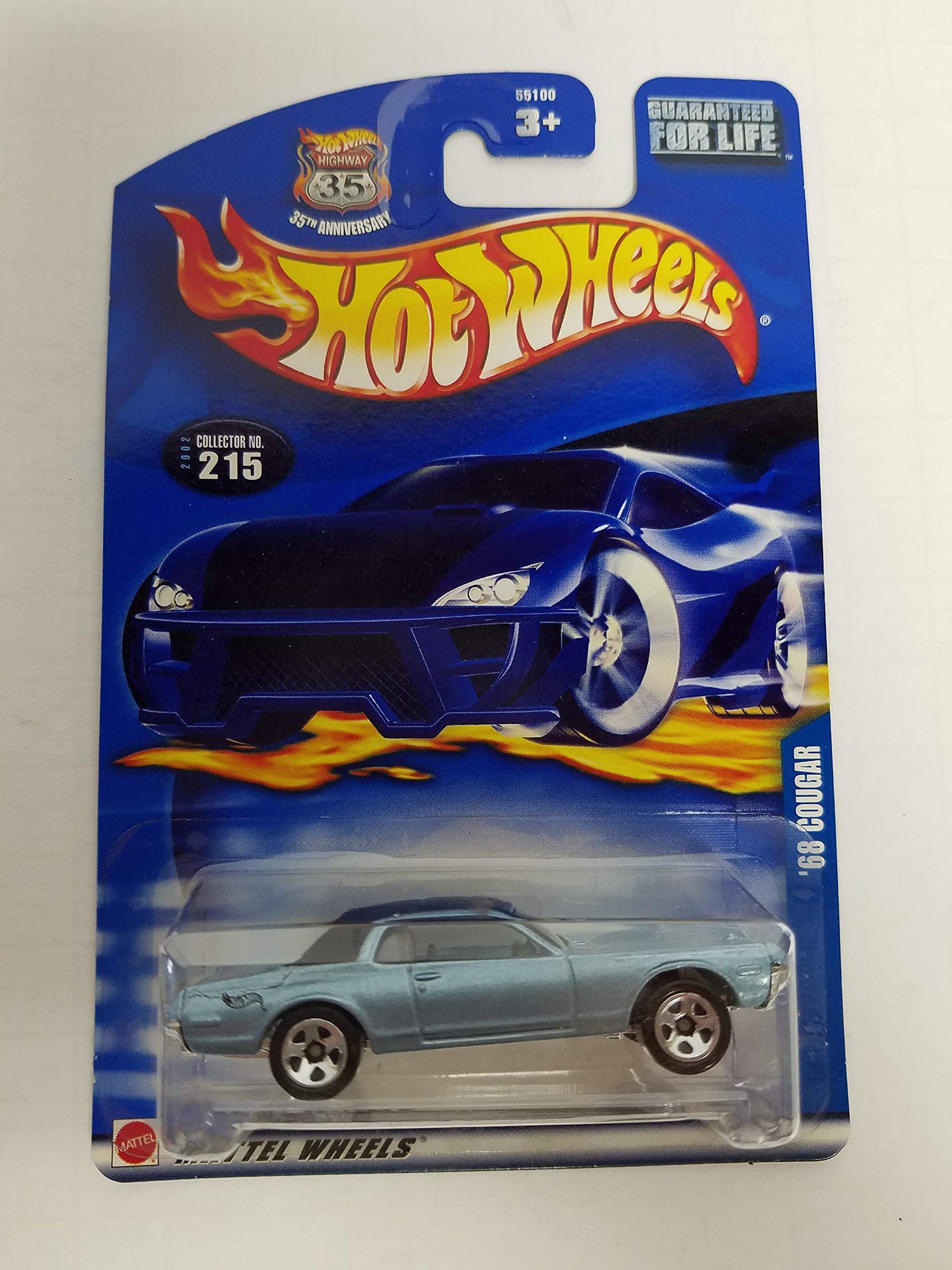 '68 Cougar Hot Wheels 2002 diecast 1/64 scale car No. 215
