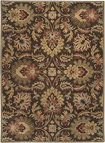 Surya CAE-1028 Caesar Chocolate 8-Feet by 10-Feet Oval Area Rug