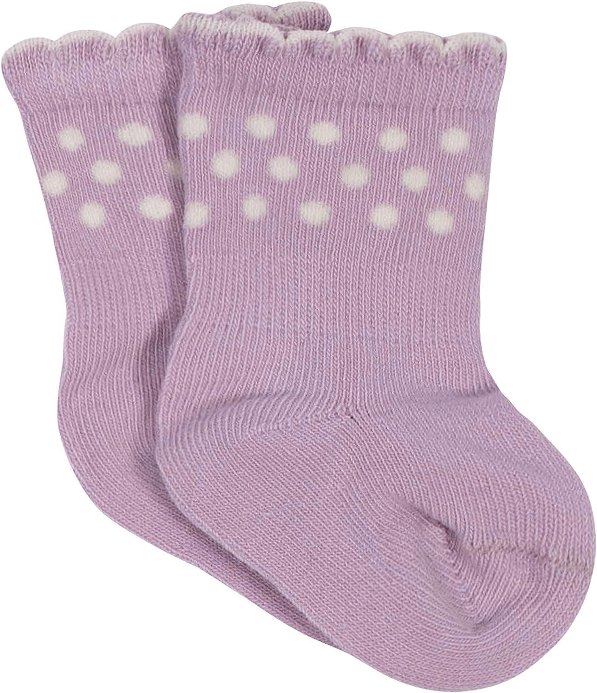 Grow by Gerber baby-girls Organic 6-pack Wiggle Proof Socks Casual Sock