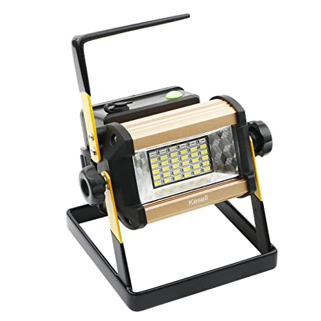 LED Spotlights/Portable Cordless 36 LED Flood Lights, 50W, 2400LM, 3 Modes