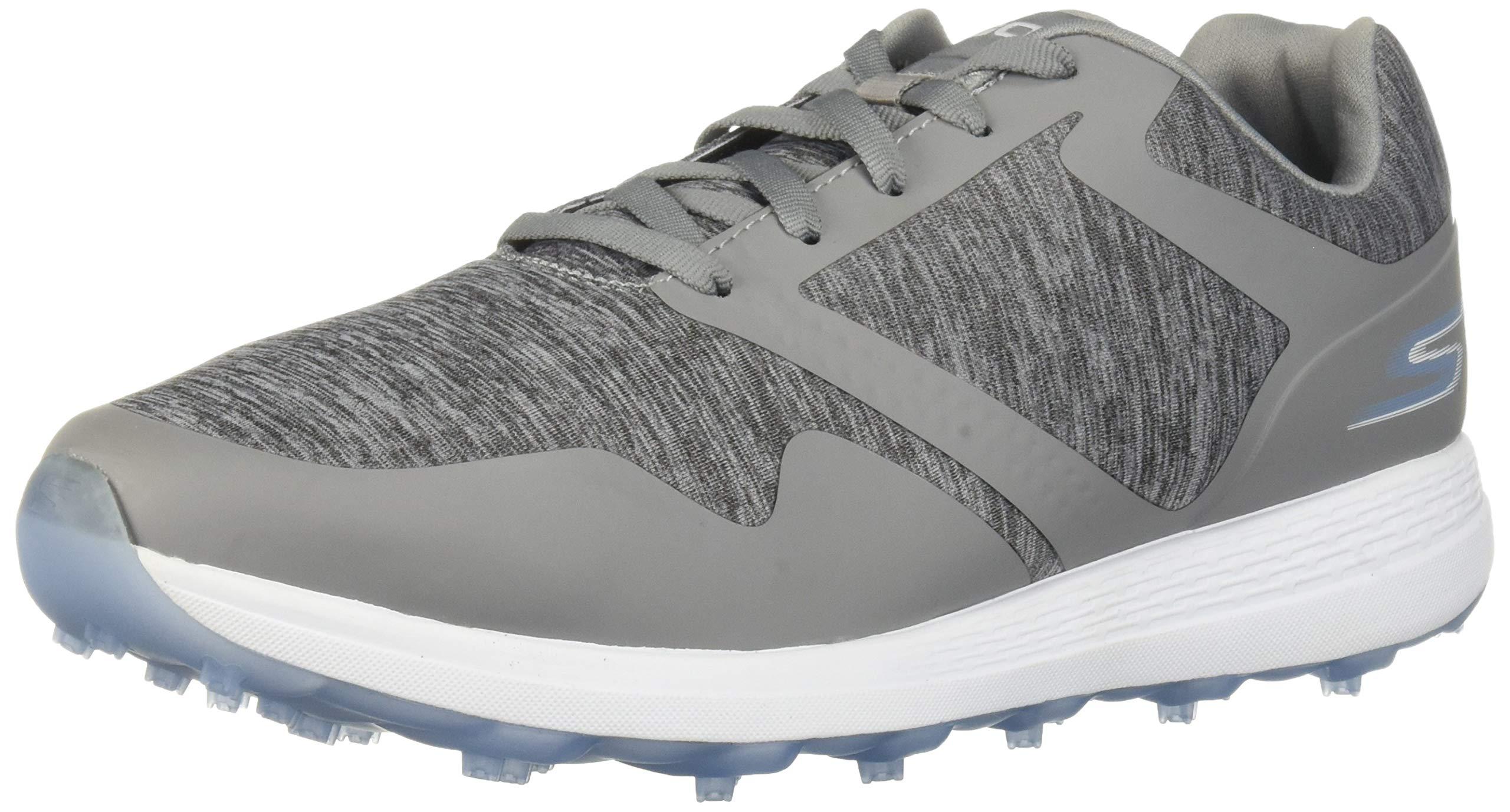 Skechers Women's Max Golf Shoe, Gray/Blue Heathered, 8 W US by Skechers