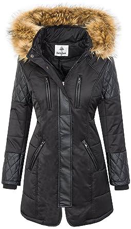 b629e8b816e0e1 Rock Creek Selection Damen Jacke Outdoor Winterjacke D-355 [EF-1707 Black S