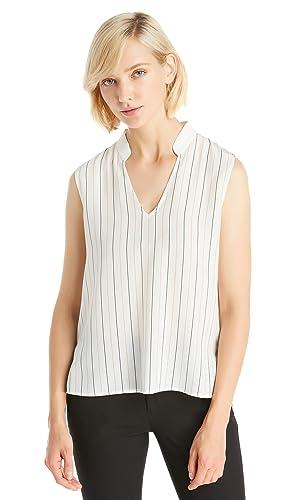 Lilysilk Camisa Mujer de Seda Escote Levandado - 100% Seda Natural de 18MM, Super Cómoda y Transpira...