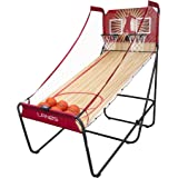Dual Shot Basketball Arcade Game with 8 Interactive Game Options, LED Electronic Scorer, Six 7-Inch Basketballs, Ball Pump | Home 2- Player Basketball Hoop Game Perfect for any Home, Room or Basement