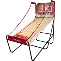 Dual Shot Basketball Arcade Game with 8 Interactive Game Options, LED Electronic Scorer, Six 7-Inch Basketballs, Ball…