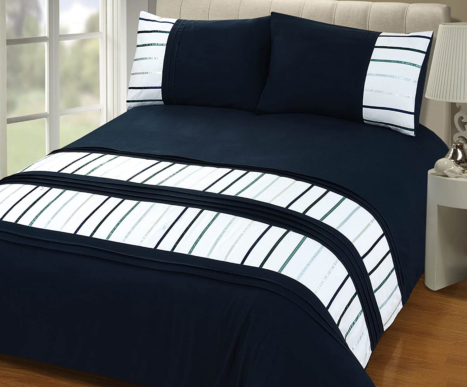Hotel Collection Manhattan Stripe King Coverlet