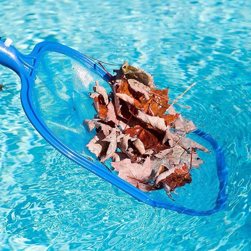 Pool Skimmer Poolkescher Schwimmbad Pool Reinigungsset Poolzubeh/ör Coversolate Pool Kescher Blau