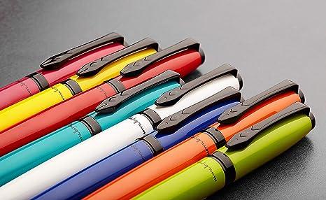 blu bianco colore inchiostro Penna stilografica in confezione regalo argento Platignum Studio
