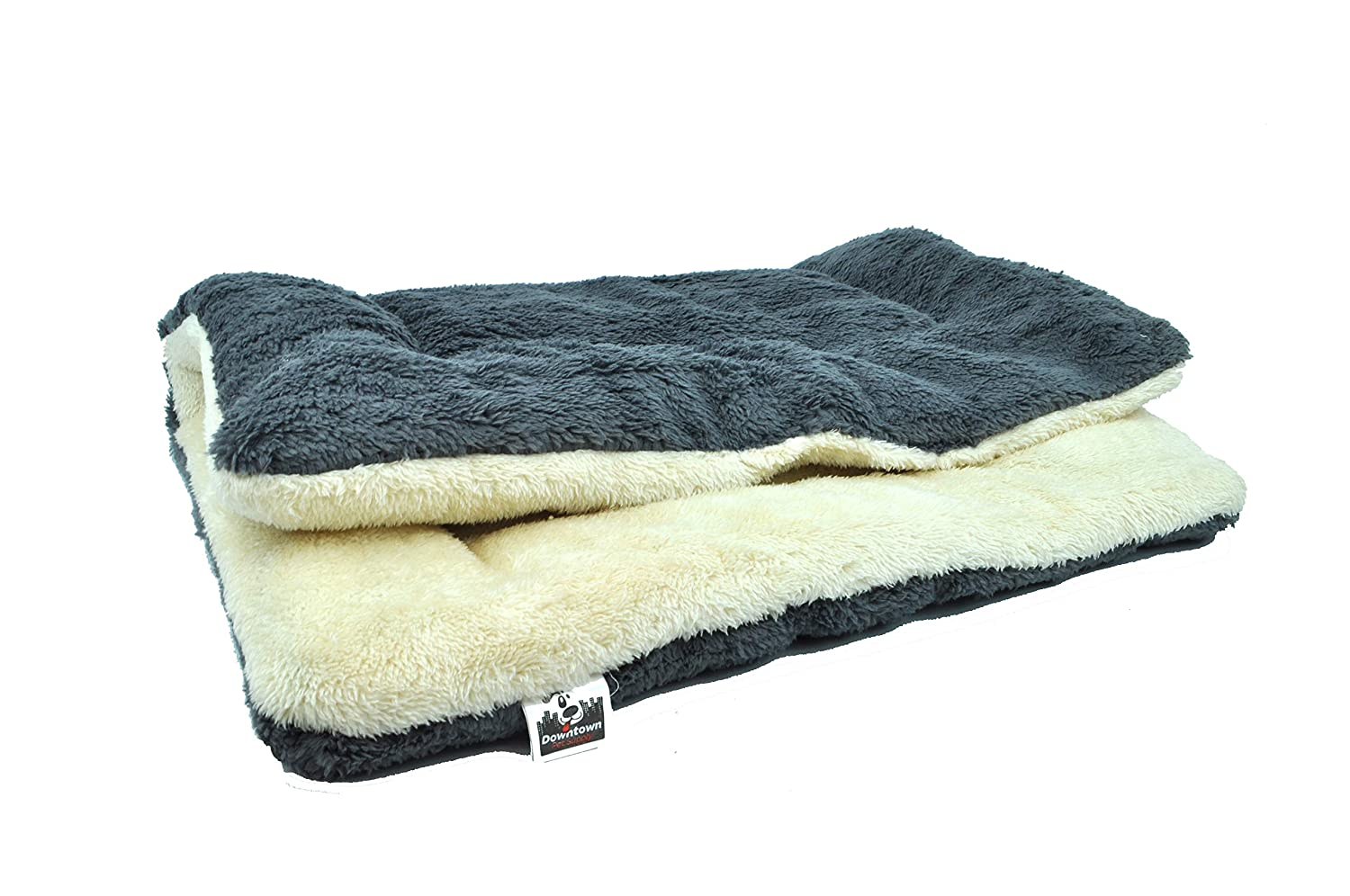 Oatmeal Charcoal X-Small Oatmeal Charcoal X-Small Comfort Pet Dog Crate Mat and Nap Pad   Great for Pet Houses, Kennels, Cages, Crates (X-Small, Oatmeal-Charcoal)