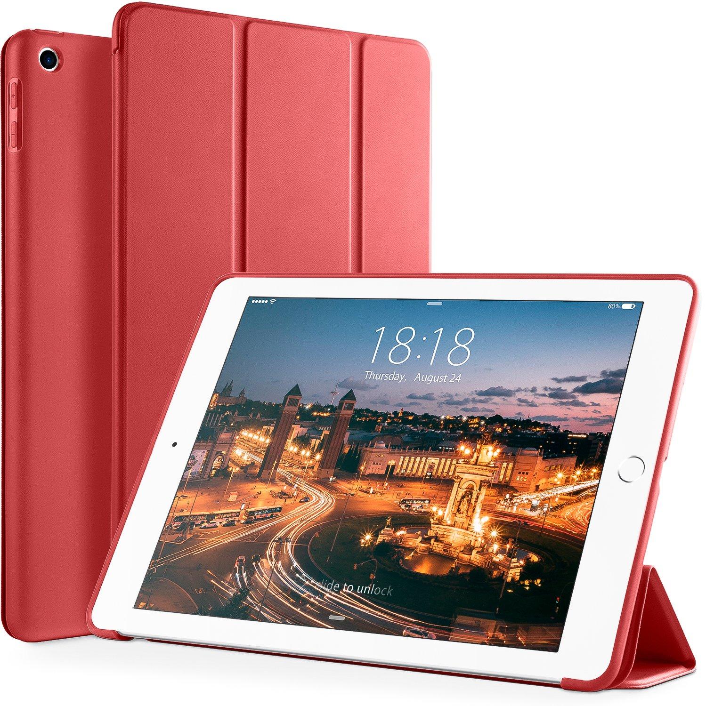 お見舞い vikesi新しいiPad Case-9.7-Red iPad 2017 iPad 9.7インチケース、軽量三つ折りスマートカバーケース柔軟なソフトTPUバック、自動スリープ/スリープ解除機能付きApple iPad レッド 9.7 2017リリース, iPad Case-9.7-Red レッド B07BQYVGD6, 春日部市:0e6b7ac2 --- a0267596.xsph.ru