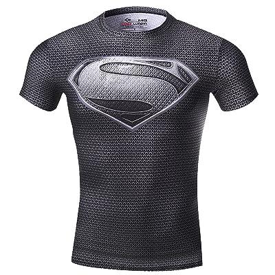 Red Plume Men Compression Tights Sports T-Shirt,Digital Printing Fitness Shirt