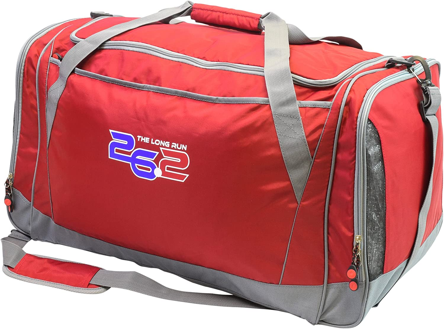 26.2 The Long Run Sports Duffle Bag Red One Size//28
