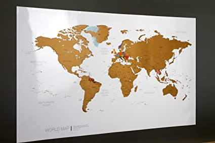 Around the World - Mapa del mundo personalizable para rascar, 970 ...