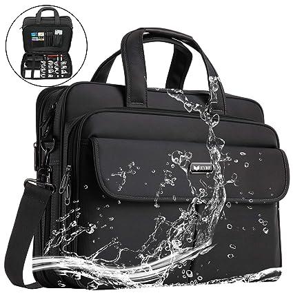ca4f73d7c0 EYBF Laptop Bag 15.6 inch Expandable Laptop   Tablets Briefcase Business  Travel Handbag for Men Women