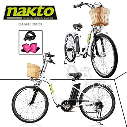 """df59dcbf029 NAKTO Adult Electric Bicycles 26"""" Electric Bikes for 36V/10Ah/12Ah  Ebikes("""