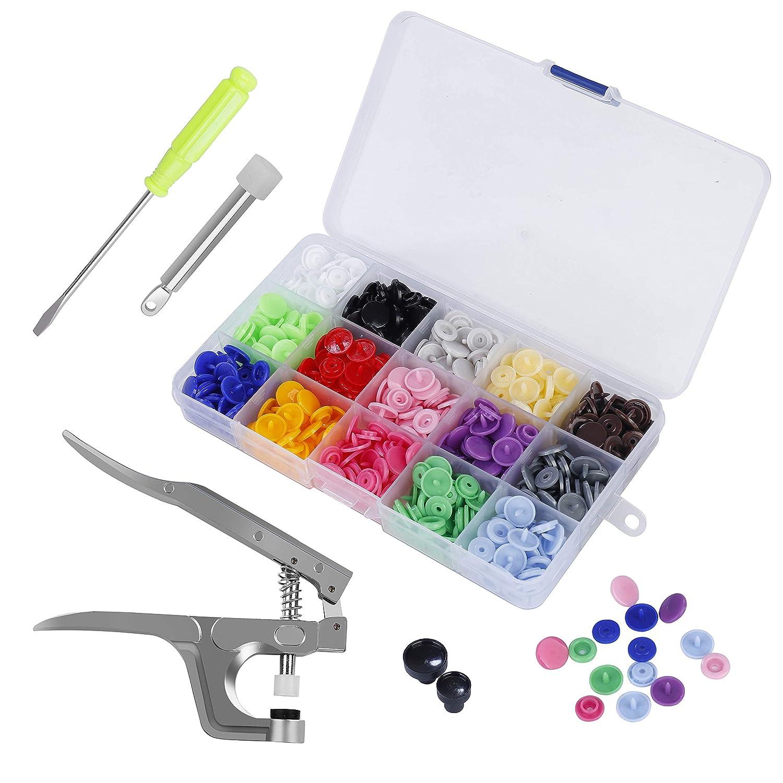Fastener Snap Pliers KAM Button+100 Plastic Resin Press Stud Cloth Tools Kit Hot