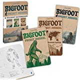 Archie McPhee 3 Pocket Notebooks, Bigfoot Pocket Journal, 3 Pack