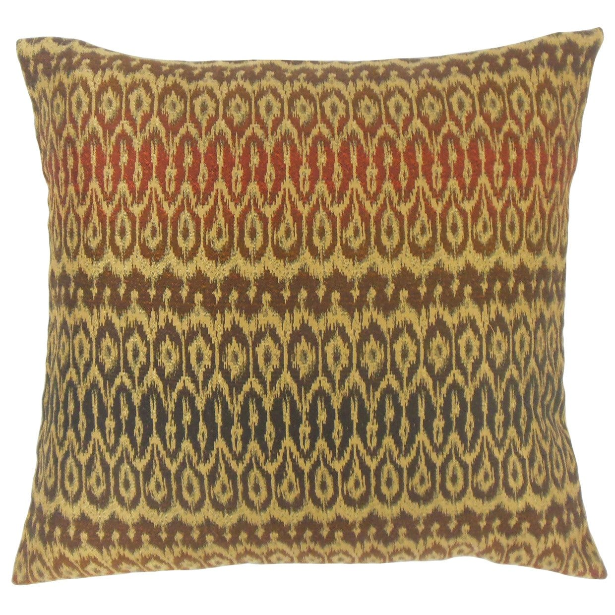 The Pillow Collection Dehateh Ikat Tiki Down Filled Throw Pillow