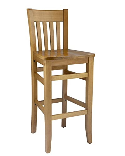 Beechwood Mountain BSD-34B-B Solid Beech Wood Bar Stool in Black for Kitchen and dining