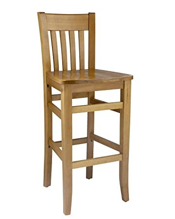 Beechwood Mountain BSD-34B-C Solid Beech Wood Bar Stool in Cherry for Kitchen and dining