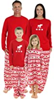 SleepytimePjs Family Matching Moose Fleece Pajamas PJs Sets for The Family