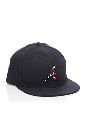 New Era Gorra JD Stars and Stripes Atlbra Negro 7 1/8 (56.8 cm ...