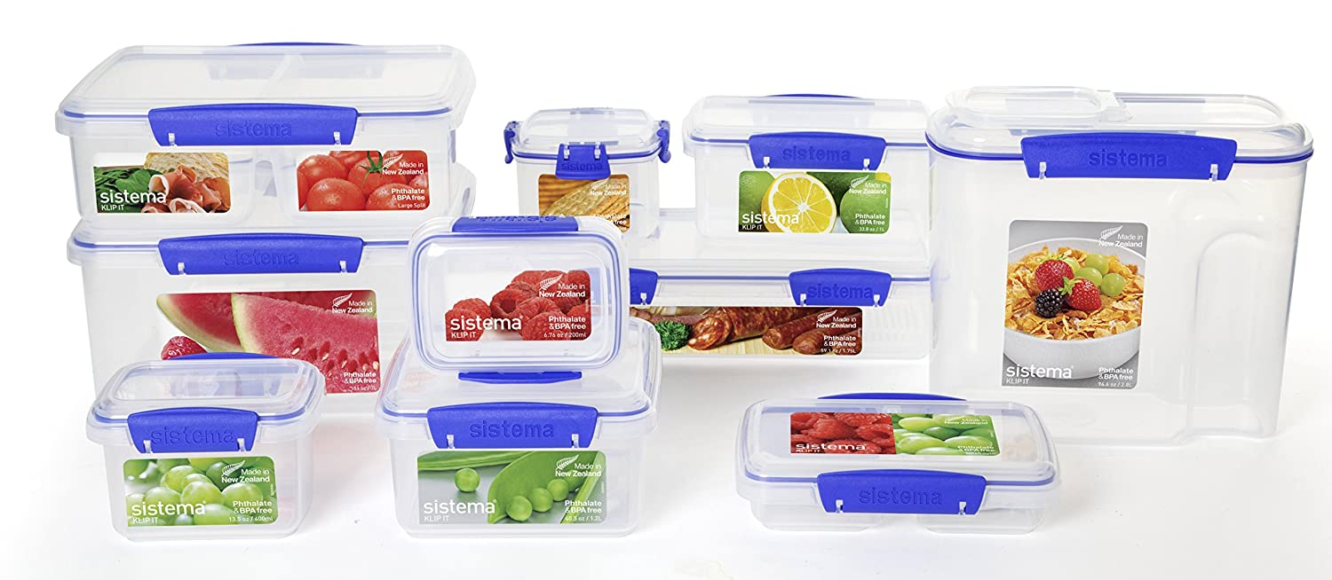Charming Amazon.com: Sistema 1550 Klip It Collection Rectangle Food Storage  Container, 12.8 Ounce: Kitchen U0026 Dining