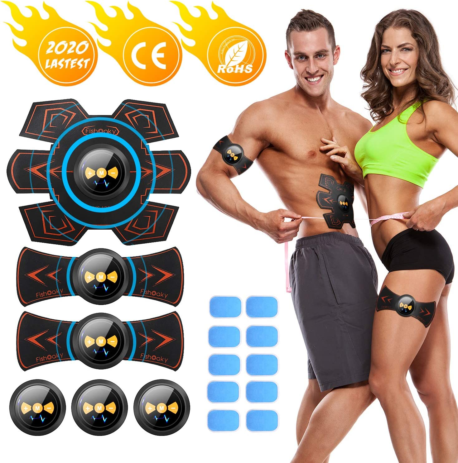 MATEHOM Abs Trainer,Ems Muscle Stimulator,Home Gym Belt,Workout Equipment For Me