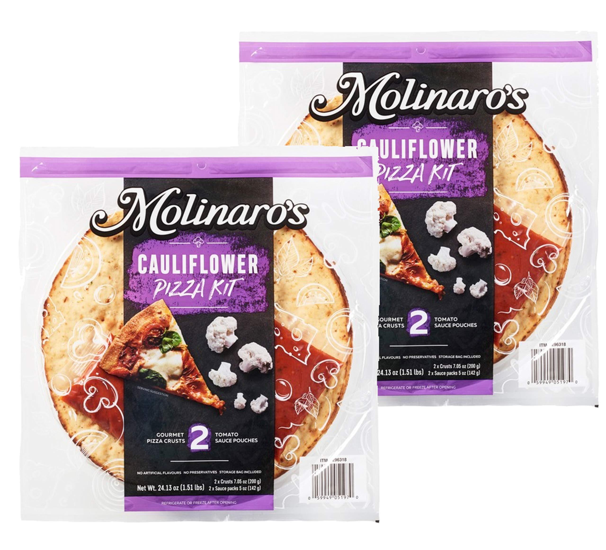 Molinaro's Cauliflower Pizza Kit Gourmet Pizza Crust & Tomato Sauce: 2 Pack (4 ct.) by FCV