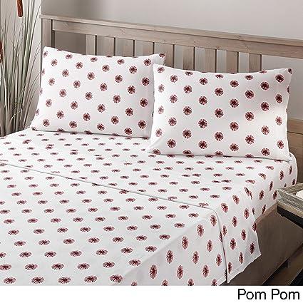 Amazon.com: Brielle Fashion Cotton Jersey Sheet Set, Twin XL, Pom