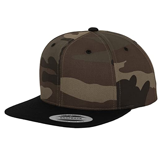 2f9b5905b27 Yupoong Flexfit Unisex Camouflage Snapback Cap (One Size) (Black Camouflage)