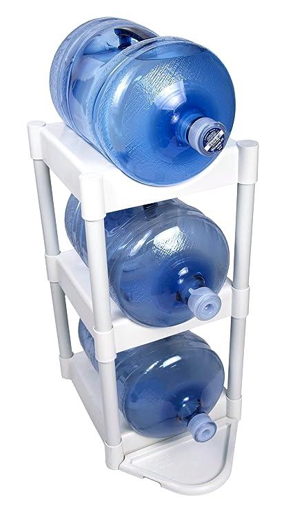 LIANTRAL 3 Tier Water Cooler Jug Rack, 5 Gallon Water Bottle Storage Rack  Detachable Heavy Duty ...
