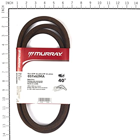 81J1a%2BKHydL._SX466_ amazon com murray 40 lawn mower blade belt '90 '97 37x62ma  at bayanpartner.co