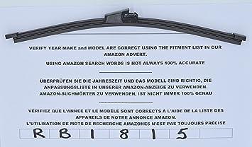 Limpiaparabrisas trasero de ajuste perfecto RB1815, 28 cm