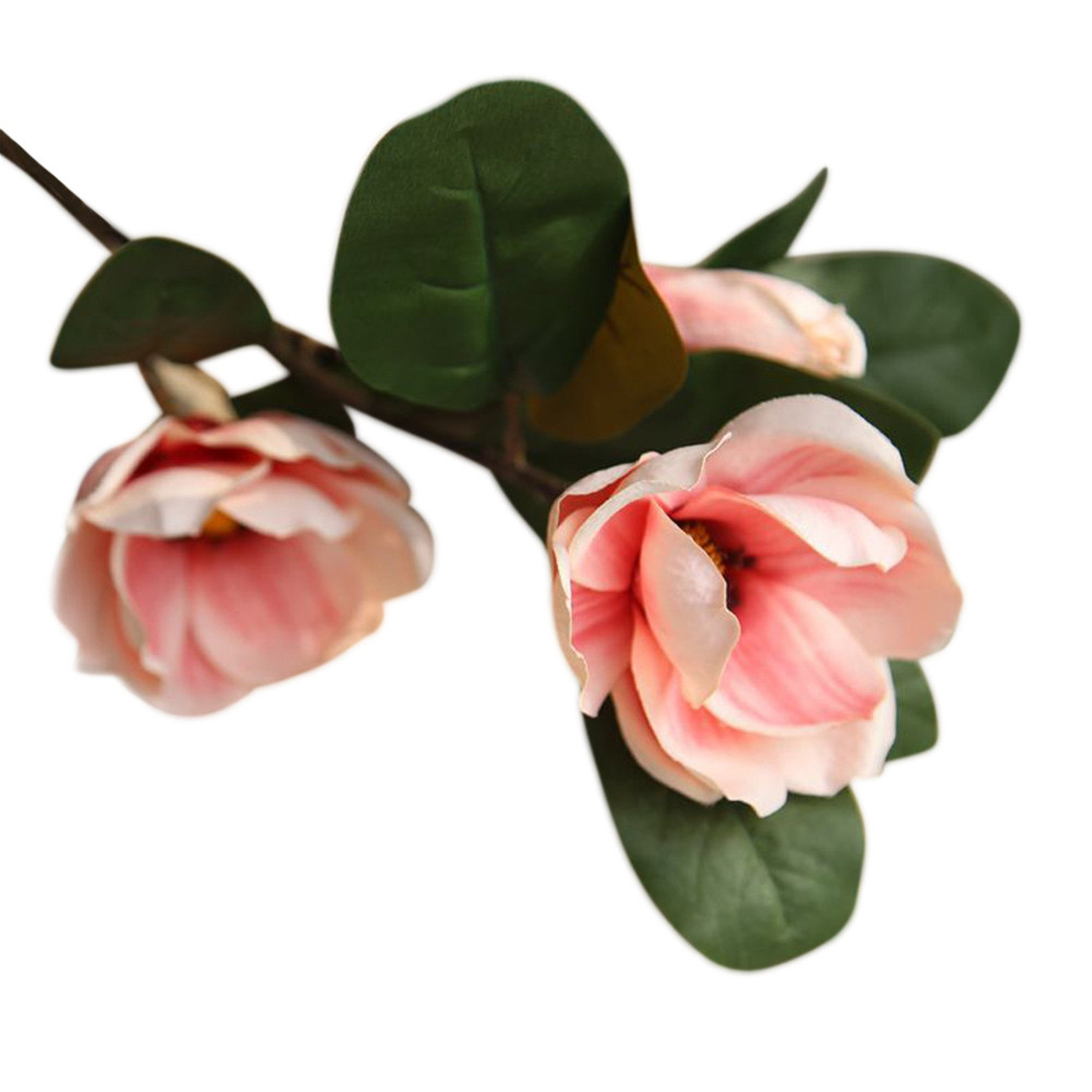 BYEEE CLEARANCE! Artificial Magnolia Flowers Artificial Plant Real-touch Magnolia Bouquet Home Wedding Decoration,Home Decor Party Garden Office (Pink❤️, 75cm)