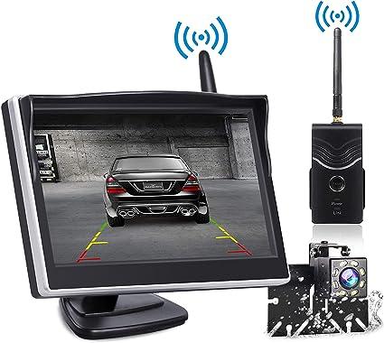 Backup Camera and Monitor Wireless, Reverse Camera TOGUARD 5 inch Rear on