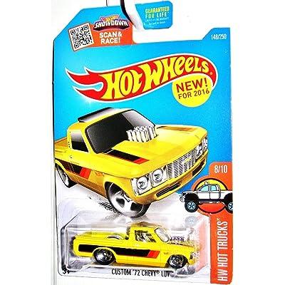 Hot Wheels 2016 HW Hot Trucks Custom '72 Chevy Luv 148/250, Yellow: Toys & Games