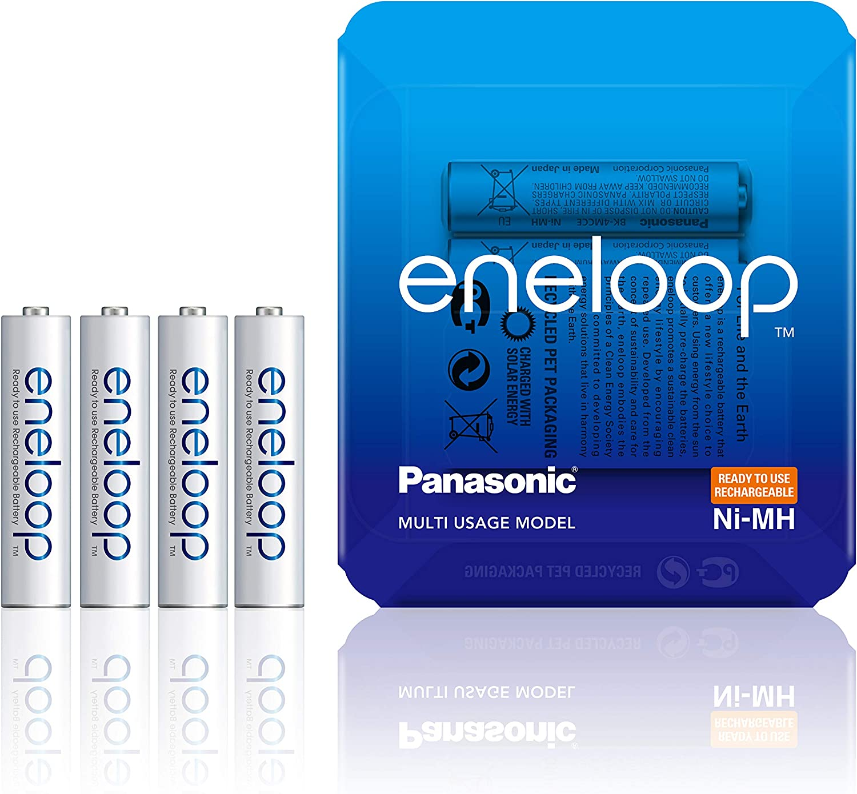 PANASONIC ENELOOP R03/AAA 750MAH, 4 PCS, Sliding Pack: Amazon.es: Electrónica