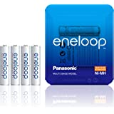 Panasonic Eneloop AAA Ricaricabili Ready To Use Nella Nuova Confezione con Custodia Sliding Pack