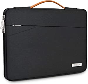 """TECOOL 14 Inch Laptop Sleeve Protective Case Cover with Handle and Front Pockets for HP 14"""" HD/Stream/Pavilion, Lenovo 14"""" IdeaPad 3 ThinkPad T490, Dell Acer ASUS 14"""" Notebooks Chromebooks, Black"""