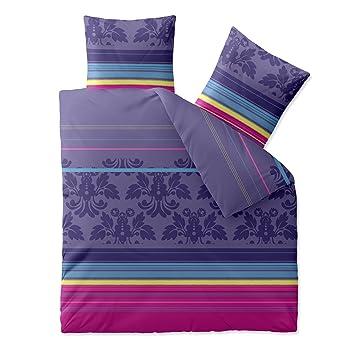 Aqua Textil Bettwäsche 200x220 Baumwolle Trend Bettbezug Daria