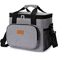 Lifewit 24-Can Large Insulated Lunch Bag for Adults (Grey)