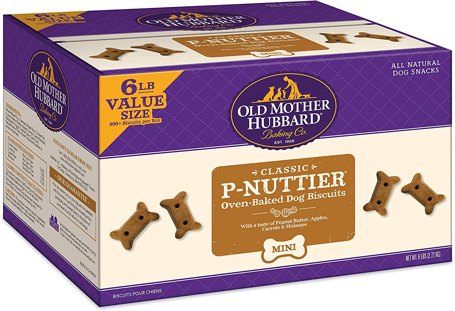 Old Mother Hubbard Classic P-Nuttier Mini Natural Dog Treats