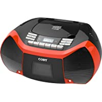 Coby Mpcd-101-Blk/Red CD Cassette Radio Player/Rec