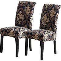 2Pack Chair Covers for Dining Room, Seat Protector Stretch Removable, Soft Spandex Decoration Seat Slipcovers for Home…