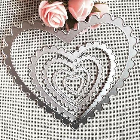 Bolso de metal en forma de Rosa Corte muere Stencils regalo de bodas papel de grabación en relieve