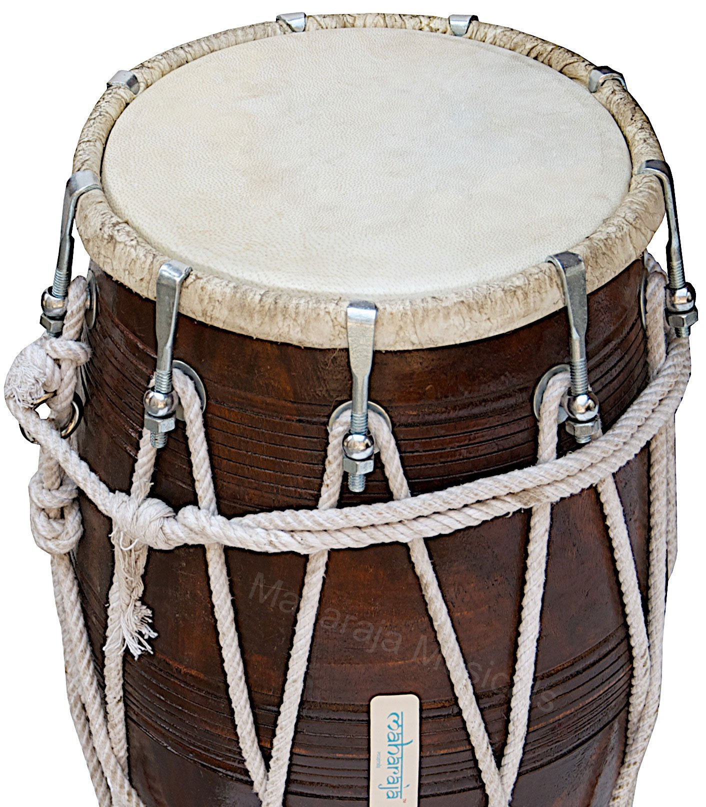 Special Dholak Drum by Maharaja Musicals, Professional Quality, Sheesham Wood, Padded Bag, Spanner, Dholki Musicals Instrument (PDI-BBC) by Maharaja Musicals (Image #6)