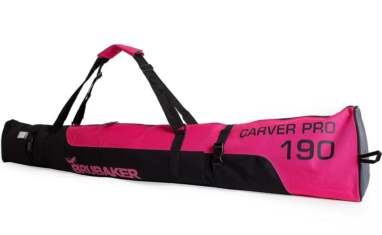 Brubaker Skitasche Carver Pro Limited Edition gepolsterter Skisack f/ür 1 Paar Ski und St/öcke 170 cm oder 190 cm